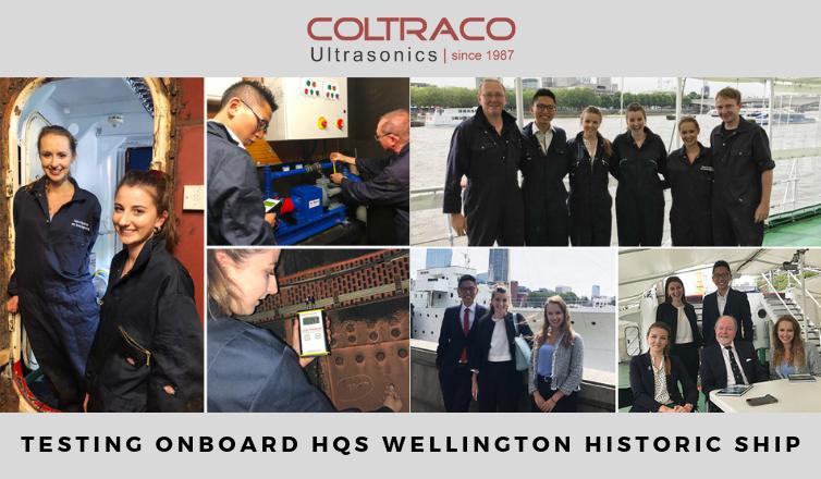 Coltraco Ultrasonics: Testing onboard HQS Wellington
